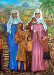 Painting of Mother Maria and Mother Josepha