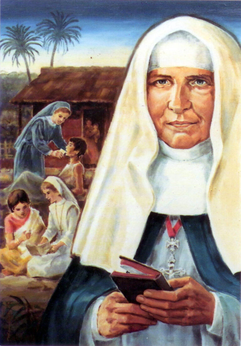Painting of Mother Josepha with Africans