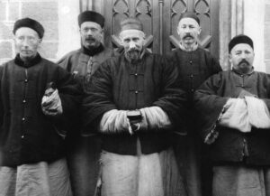 Joseph Freinademetz with other priests in China