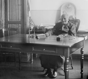 Arnold Janssen at his desk