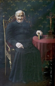Painting of Arnold Jannsen sitting