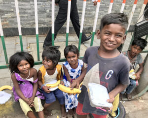 Feed the Hungry - Mumbai street children at the traffic signal.
