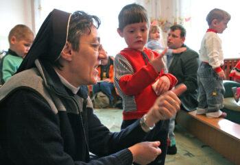 Sister with AIds children in Irkutsk