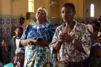 Religious celebration in Angola