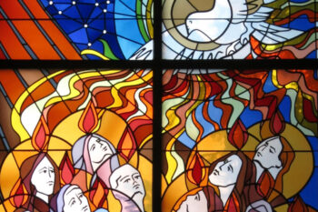 the Coming of the Holy Spirit, Stained Glass