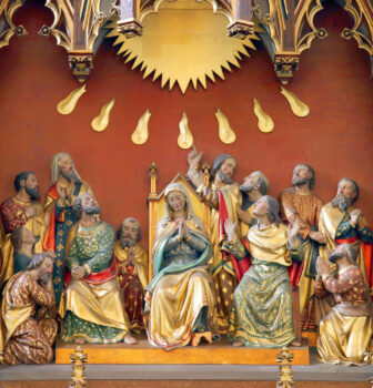 Altarpiece Mission Sisters Steyl (Apostles and Mary at Pentecost)