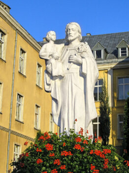 Statue of St. Joseph with the Child Jesus at SVD House in Gorna Grupa