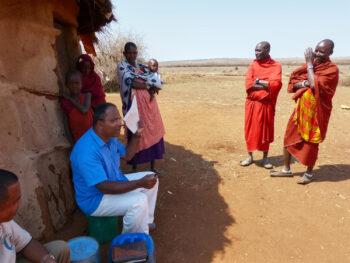 Simanjiro District, Meeting in Maasai compound, Fr. Michael Shaji SVD