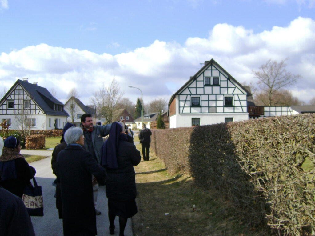 SSpS and SVD group visiting Rollesbroich where Helena Stollenwerk lived before entering Steyl