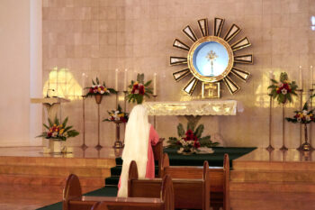 SSpSAP Convent, Adoration Sister Praying before the Blessed Sacrament