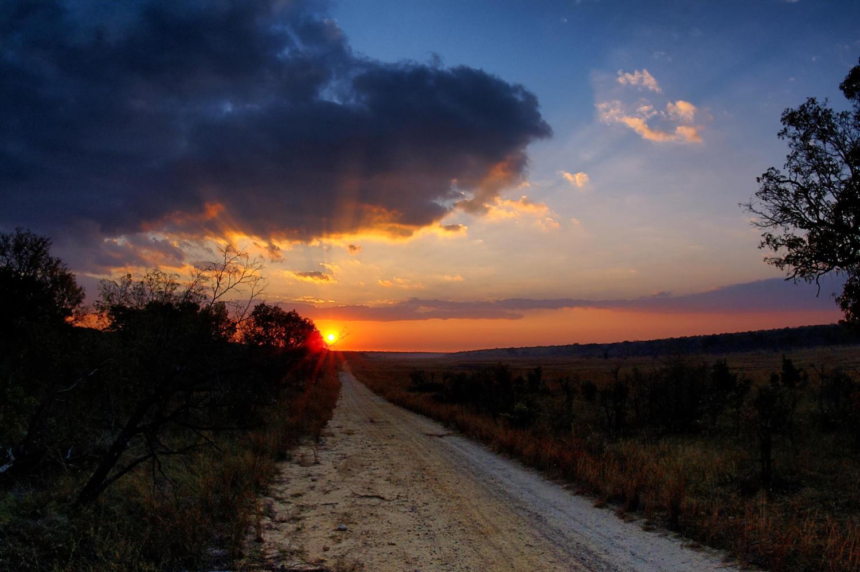 Zimbabwe Road Sunset