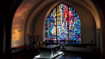 Stained Glass window, Sarcophagus, Arnold Janssen, St. Micheal, Mission House, Steyl