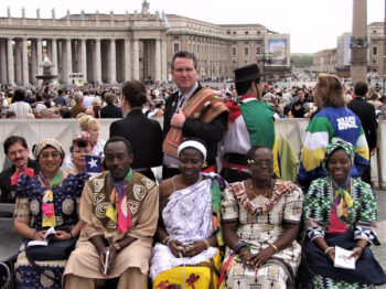 Sr. Bernardete Dere in St. Peter's Square (last on the right)