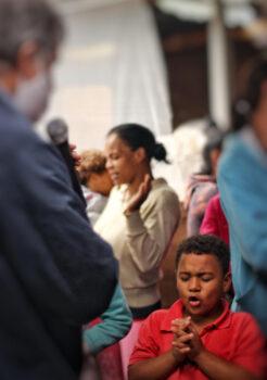 Children, Woman, Prayer