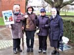 SSpS Sisters Margret Keuck, Antonia Schmid, Leoni Prigunta and Odila Bremers during an event in Venlo.