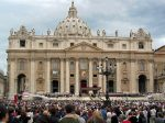 Saint Peter's Basilica during the canonisation of St. Arnold and St. Joseph Freinademetz